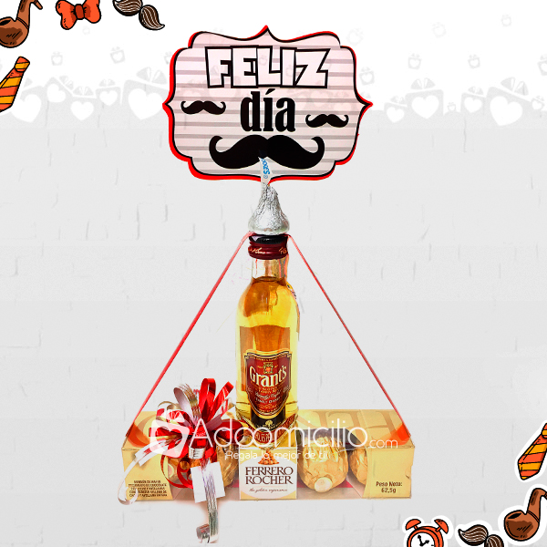 Dia Del Padre Regalos Con Licor Mini Whisky Y Chocolates Ferrero A Domicilio En Cali